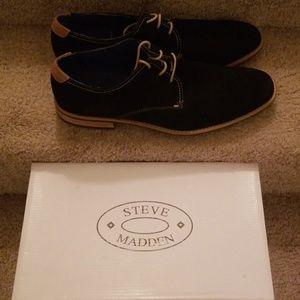 Steve Madden Black Suede Shoes